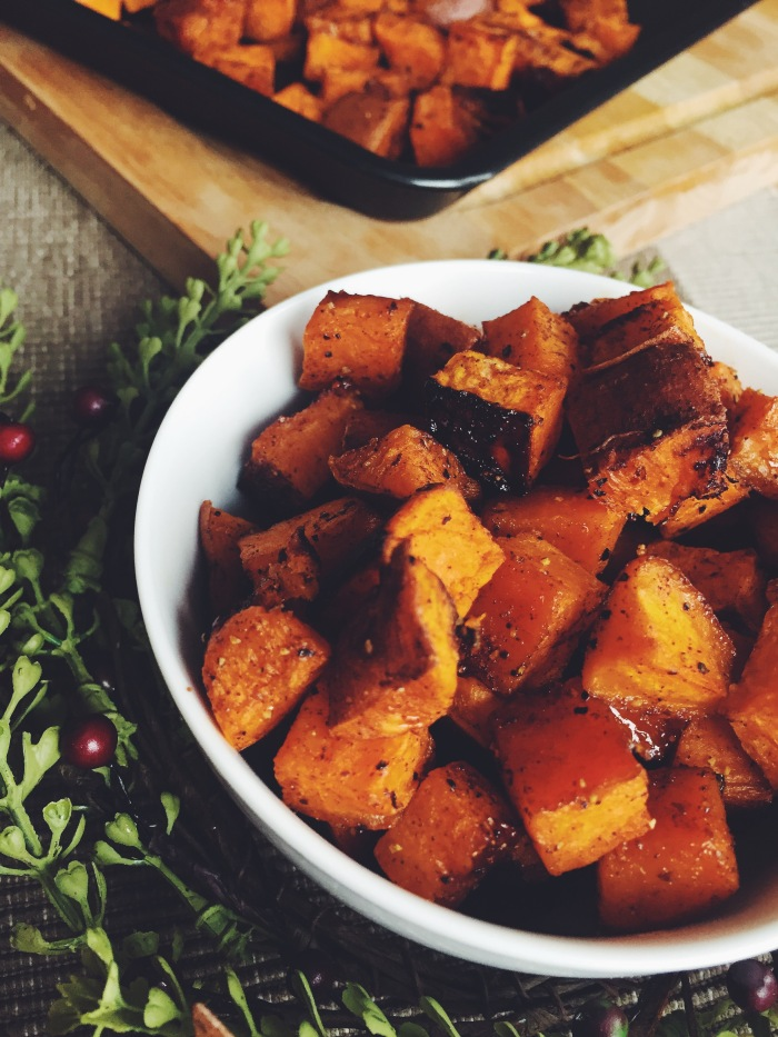 Roasted Sweet Potatoes // found on savourandshine.com